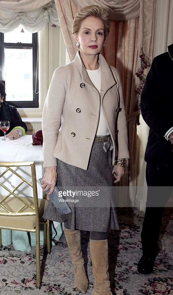 Carolina Herrera...the jacket and skirt are lovely...much better with a pump.