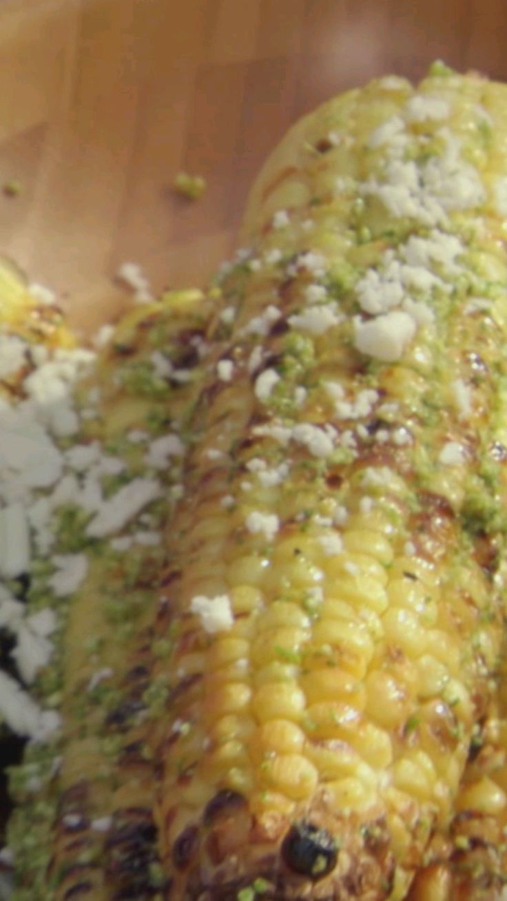 Cilantro pesto adds south-of-the-border flavor to grilled corn on the cob.