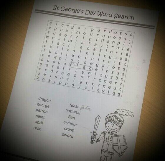 #ENGTWC One of the many exercises in English we did for Saint George's (Sant Jordi) pic.twitter.com/OnllZCWeEl