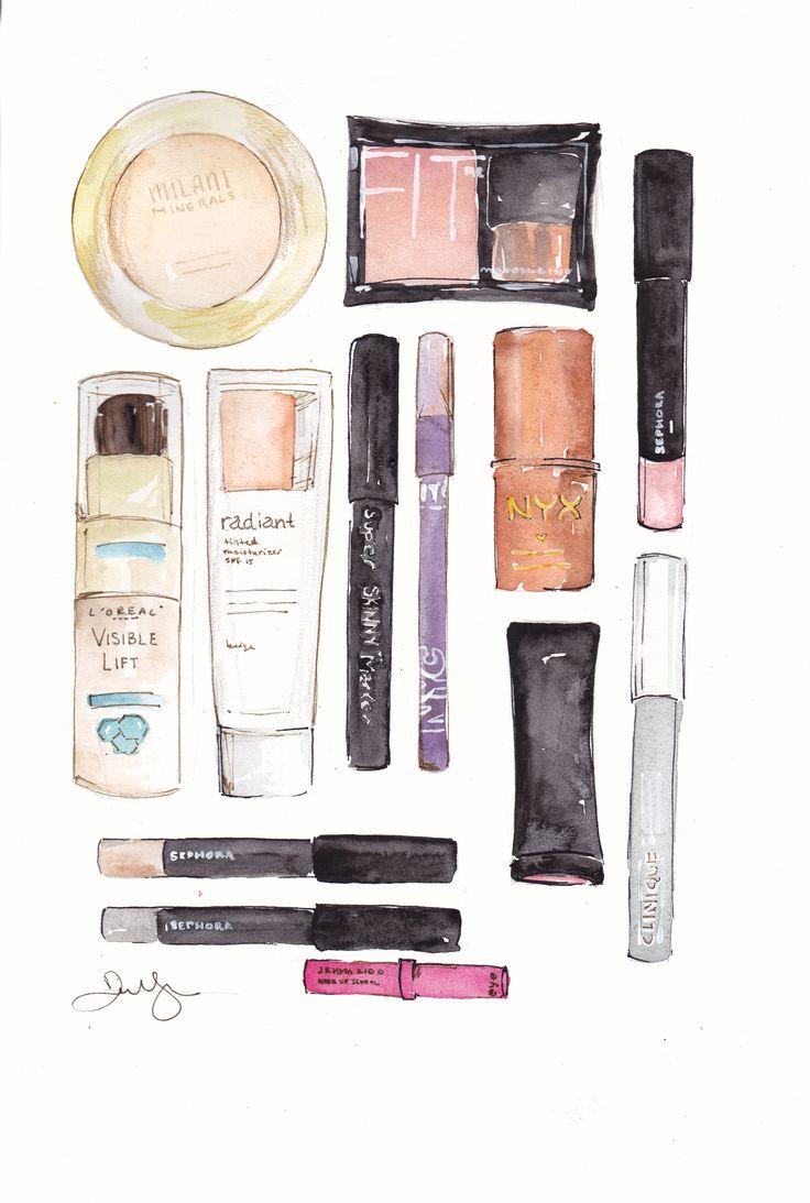 Makeup Drawing: 22 Best Illustrations Of Make Up Images On Pinterest