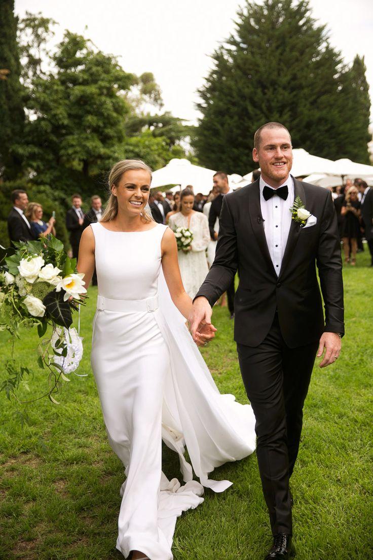 Introducing the newlyweds, Sarah & Jarryd Roughead!  Celebrant: Sally Hughes  Image: Blumenthal