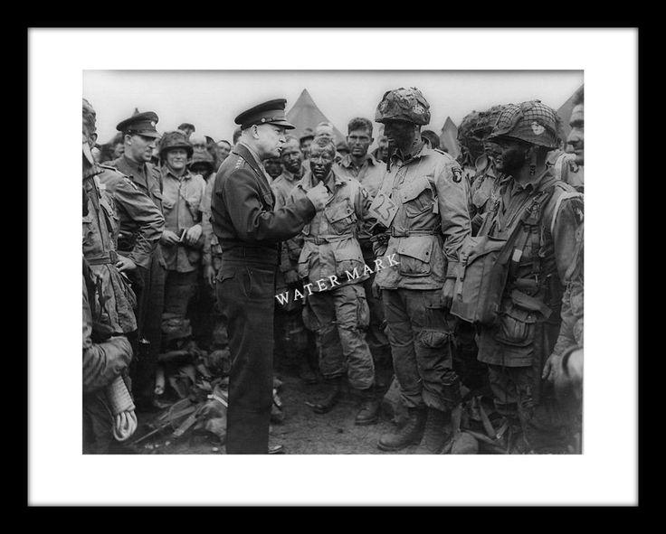 DWIGHT D. EISENHOWER 11x14 Photo Print World War II D-Day Normandy WW2  | eBay