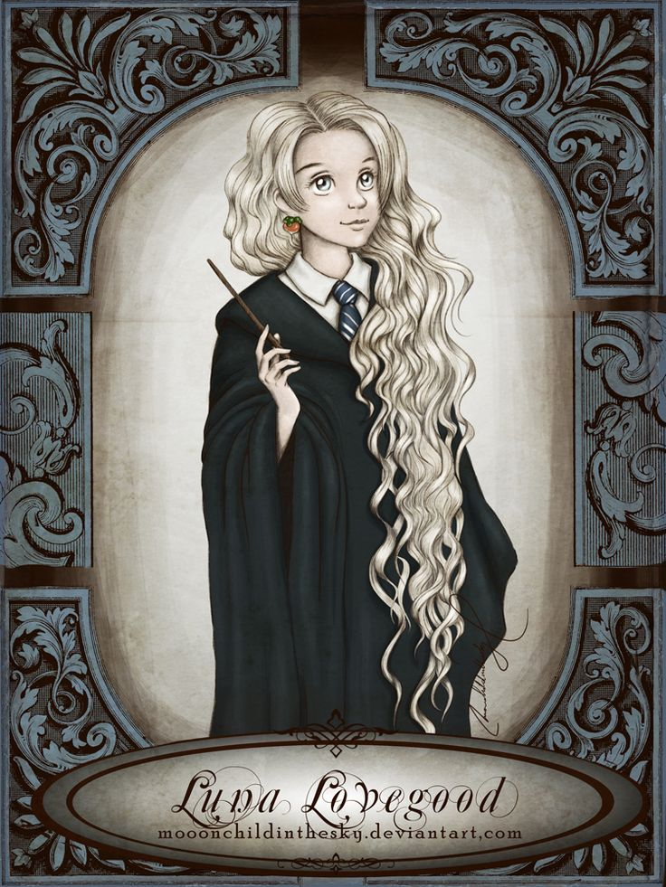 Luna Lovegood by moonchildinthesky  love this image of her