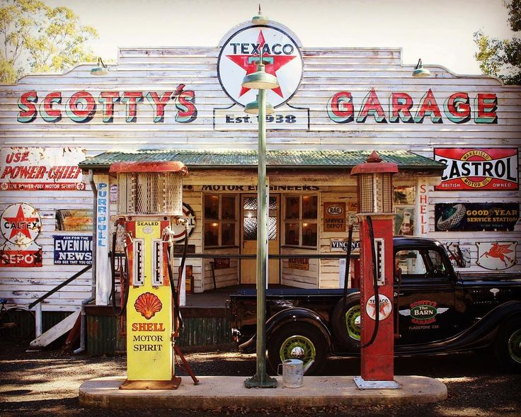 Scotty's Garage on Flagstone Creek Rd in Toowoomba is a car museum, plus there is a coffee shop next door. Great Sunday drive destination.