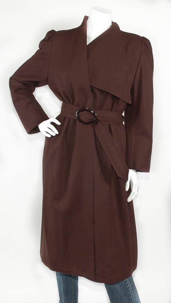 Vintage!! ~NAGANO~ Lightweight Wool Unstructured Belted Trench Coat, Mint!! 8 #Nagano #BasicCoat  $49.99