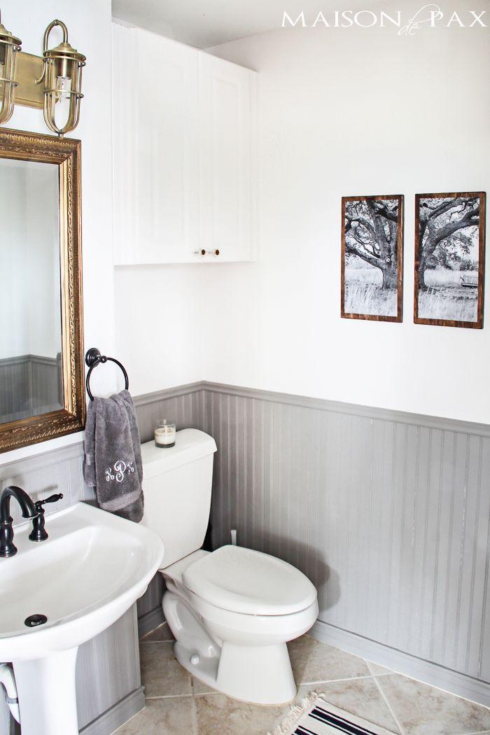 Split Photo Wall Art  DIY Triptych  Rustic Chic BathroomsAttic  11 best half bath ideas images on Pinterest   Bathroom ideas  . Rustic Chic Bathroom Ideas. Home Design Ideas