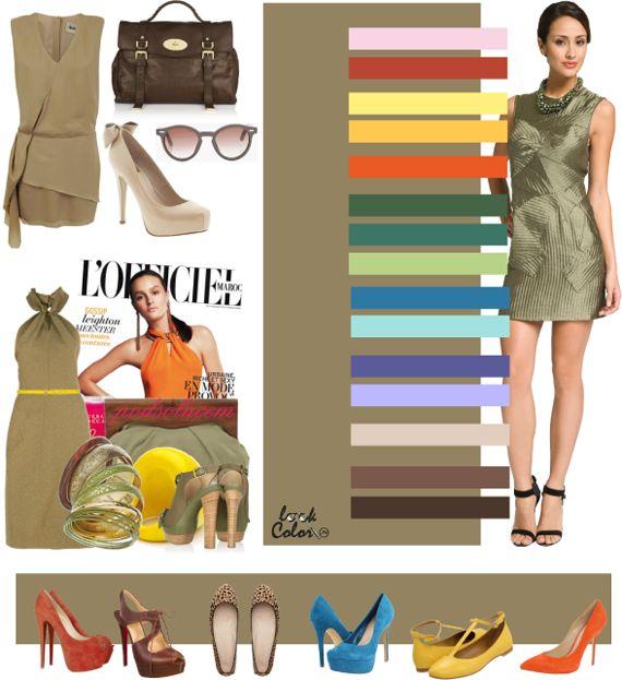 khaki: color combinations
