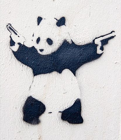 Random Panda, watch out for him when you walk the streets! He might be dangerous.    http://www.every-quote.com