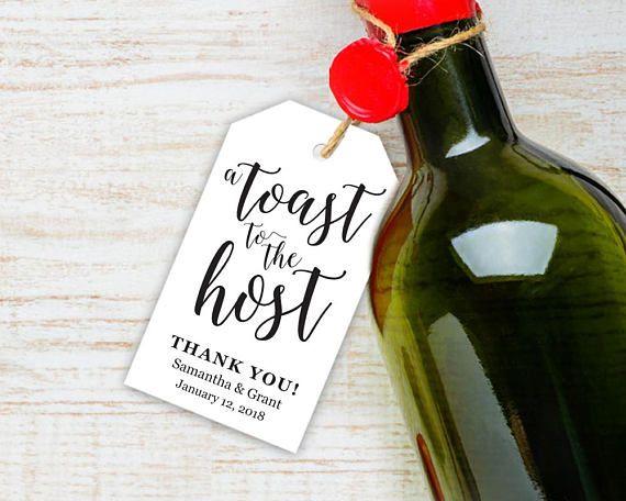 Good Hostess Gifts For Wedding Shower: 28 Best Favor Tag & Label Templates Images On Pinterest