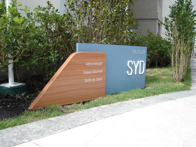by Sceno | Wayfinding and visual communication system for the residential development in Porto Alegre