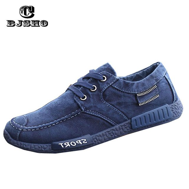 Check current price CBJSHO 2017 New Fashion Canvas Shoes For Men Low Style Comfortable Denim Mens Shoes Lace up Flats Casual Shoes Man Summer just only $16.80 with free shipping worldwide  #menshoes Plese click on picture to see our special price for you