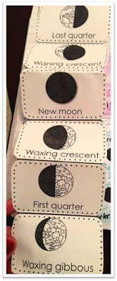 Foldable to use with the moon phases!