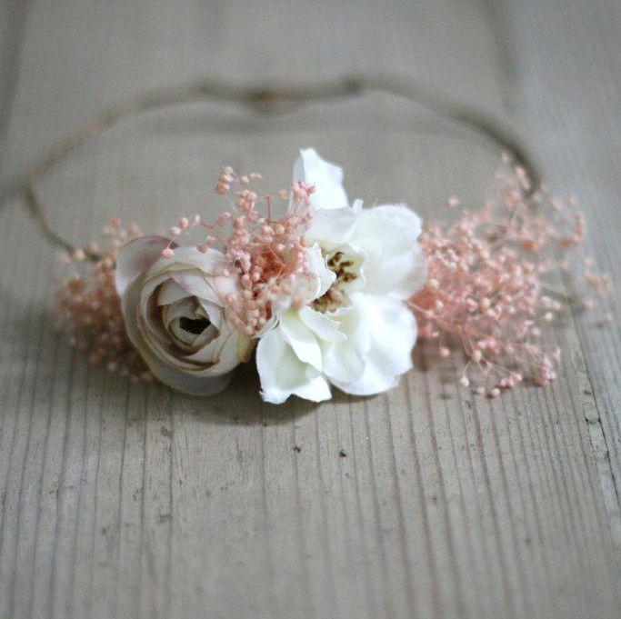 Newborn photo props, newborn floral wreath, floral wreath, photo props, flowers, delicate wreath, floral crown