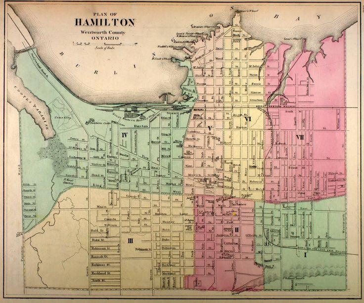 Hamilton, Ontario Map 1875