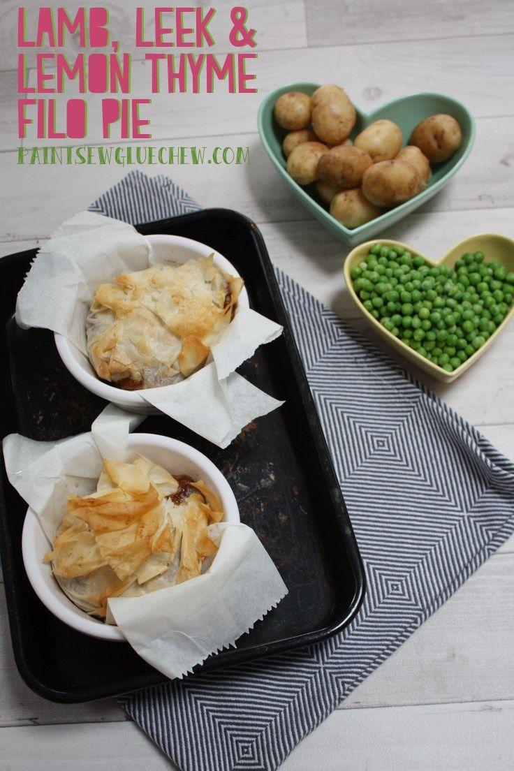 Lamb, Leek and Lemon Thyme Filo Pie