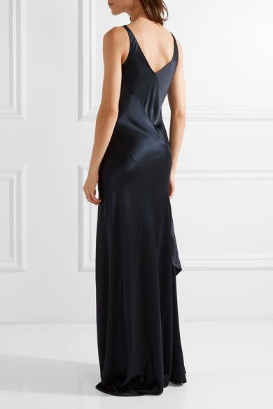 Narciso Rodriguez   Paneled silk-satin gown   NET-A-PORTER.COM