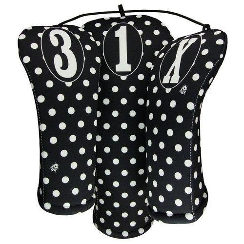 Beejo Black and White Polka Dot Club Cover Set