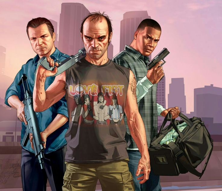 Michael De Santa, Trevor Phillips & Franklin Clinton  (GTA V)