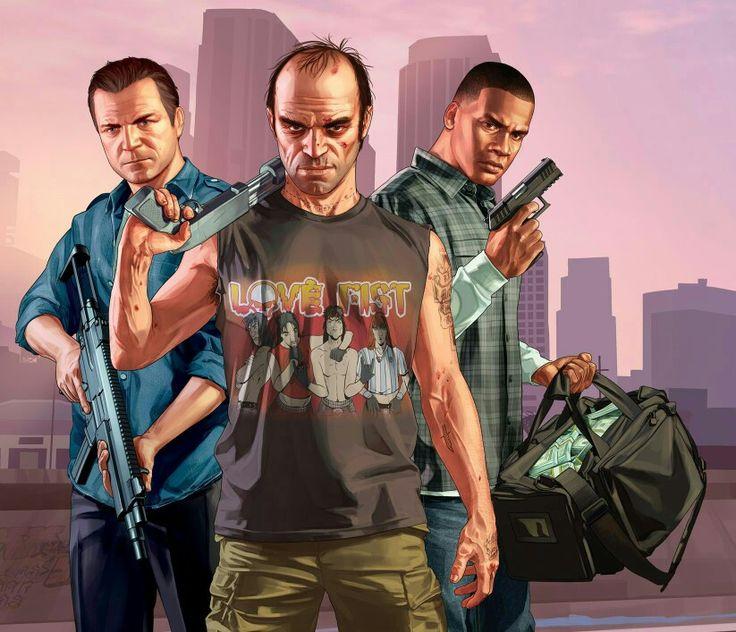 Michael De Santa, Trevor Phillips & Franklin Clinton  (GTA V)