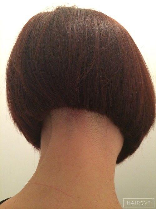 women undercut bob smooth hairstyle