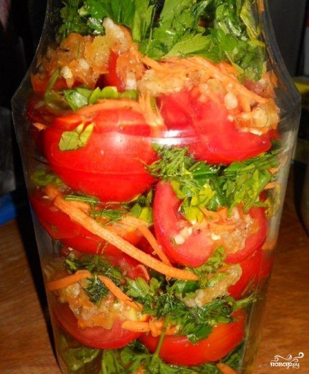 Если вы хотите сделать помидоры на зиму по необычному рецепту, тогда приготовьте помидоры по-корейски. Получаются они очень вкусными и пикантными. Такая кисло-сладкая закуска, которая отлично подойдет к обеденному и праздничному столу.