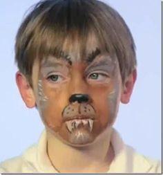 maquillaje lobo para niños