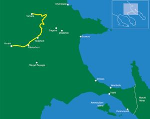 Hiking routes in East Halkidiki