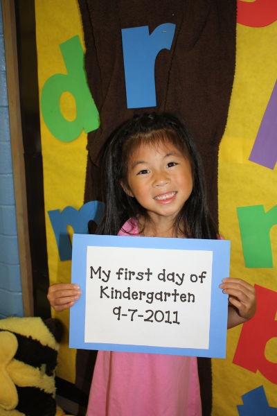 1st Day of School Photo Idea