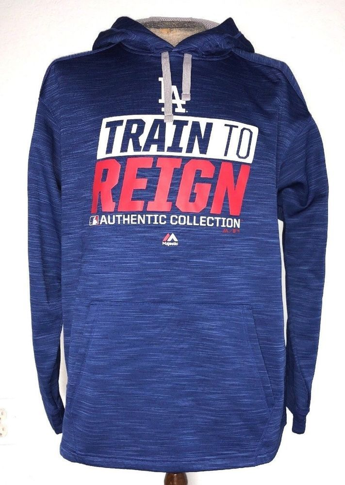 ef8d6f86a61dab MLB Majestic LA DODGERS Royal Spring Training Train to Reign Streak Hoodie  Sz XL #Majestic #LosAngelesDodgers