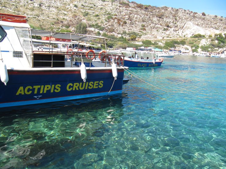 At St. Nikolas you can take the boat to the blue  lakes of Zakinthos, Greece #Zakinthos