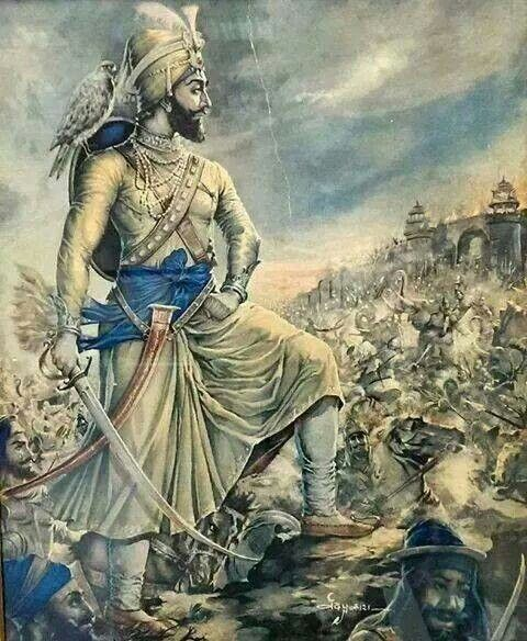 Guru Gobind Singh Maharaj on the battlefield