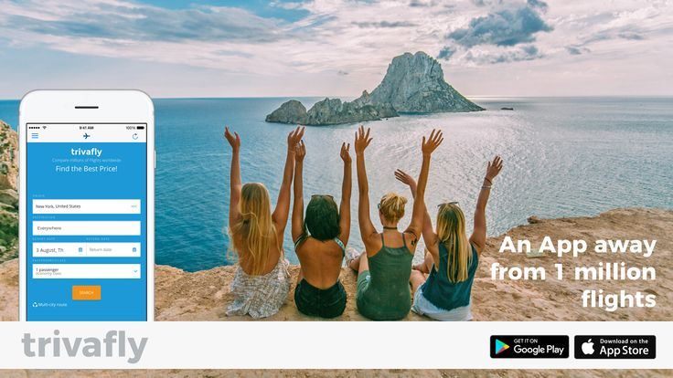 Cheap flights App - trivafly! travel, Ibiza, trivago flights