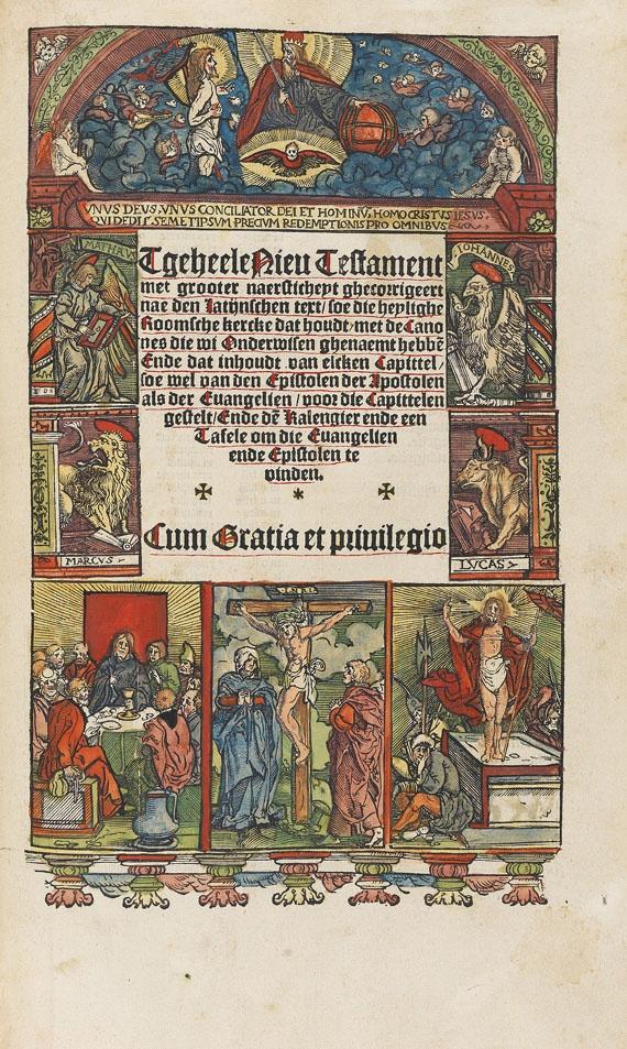 - Bibel, Niederlande. Altes Testament + Neues Testament, 1528- 29. (Titel u. Karte fehlen)