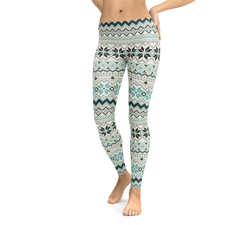Winter Leggings // Printed Leggings // Patterned Leggings // Tribal Leggings by TheCultureCo on Etsy