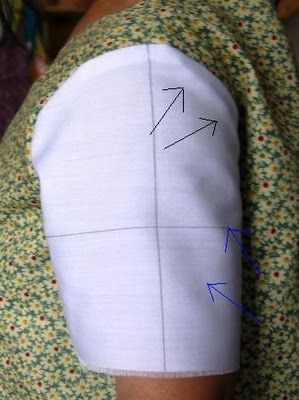 altering a standard sleeve to various styles