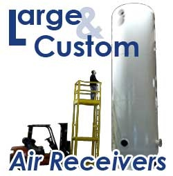 TIGG Corporation has designed and manufactured steel tanks and pressure vessels as adsorption vessels and filters for its customers. Now, at our centrally located manufacturing facility in Heber Springs, Ark., we also produce large and custom-engineered Air Receiver Tanks