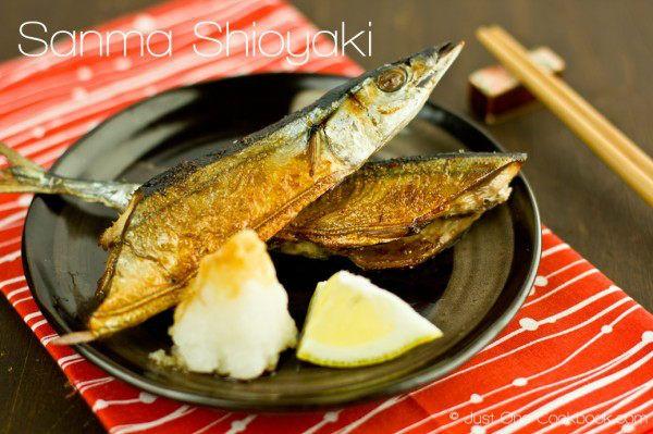Sanma Shioyaki (Salt-Grilled Pacific Saury) さんま塩焼き