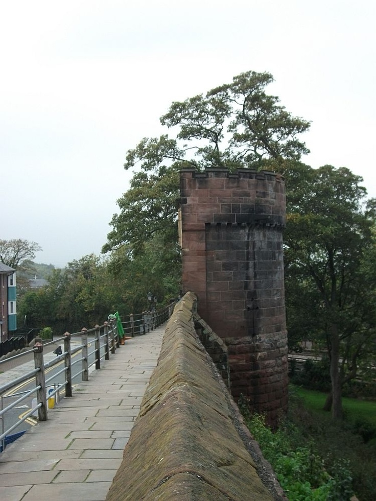 The Roman Walls in Chester, England