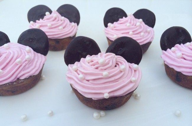 Pink teddy bear cup cakes. Babybite.dk