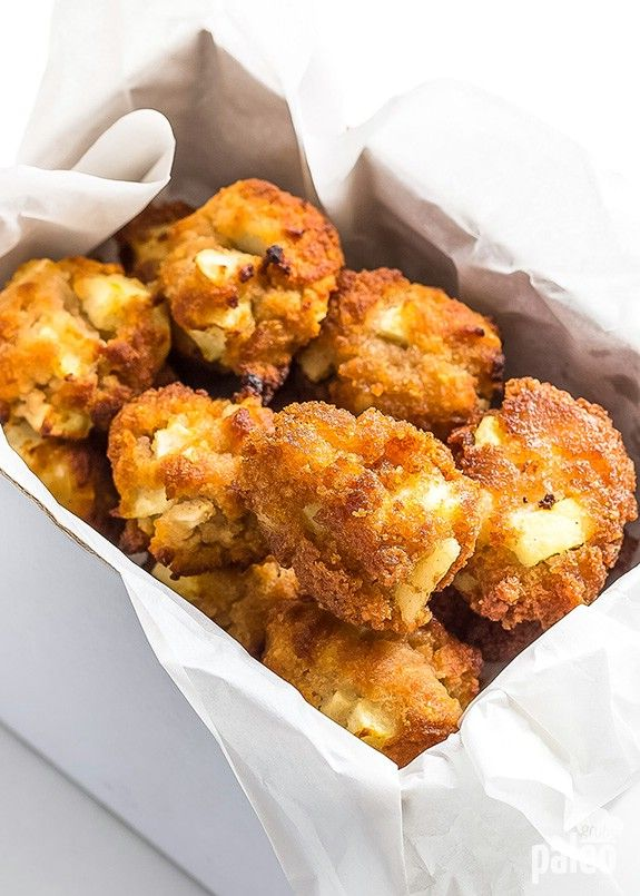 Healthy Oven Baked Apple Fritters. #recipe