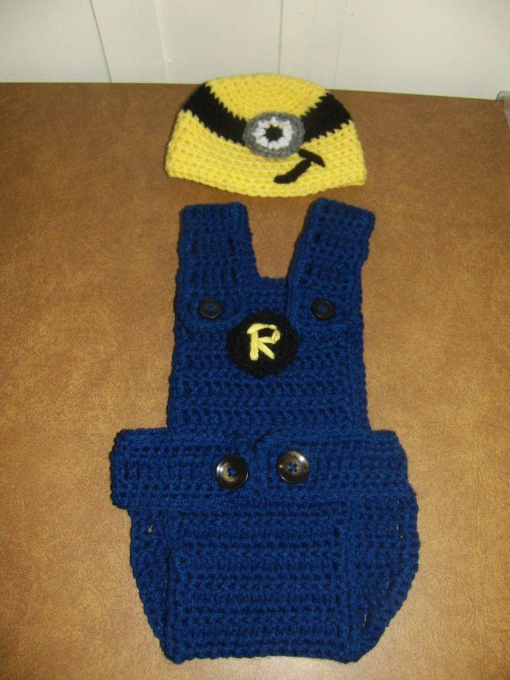 Crochet Minion Baby Overalls Free Pattern