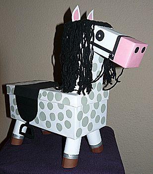 paard voor surprise knutselen snbel en makkelijk