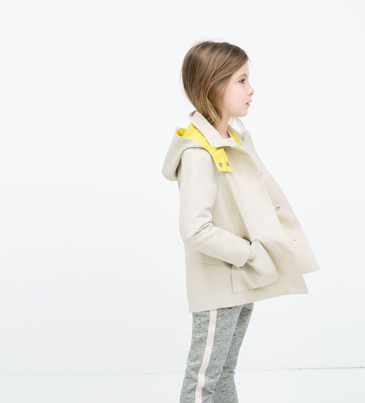 裏地・フード付きトレンチコート - ジャケット コート - ガール ( 3歳 - 14歳) - キッズ | ZARA 日本