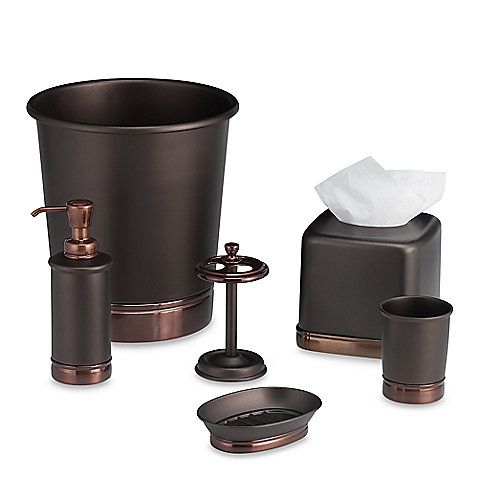 York oil rubbed bronze bath accessories from bed bath beyond for a purple and gold bath Purple and gold bathroom accessories