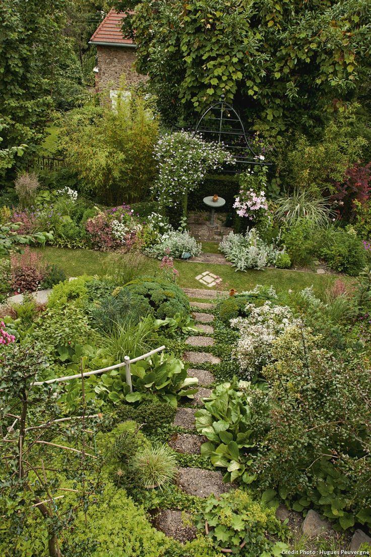 Avant apr s am nager un chemin en pente jardins - Jardin en pente amenagement ...