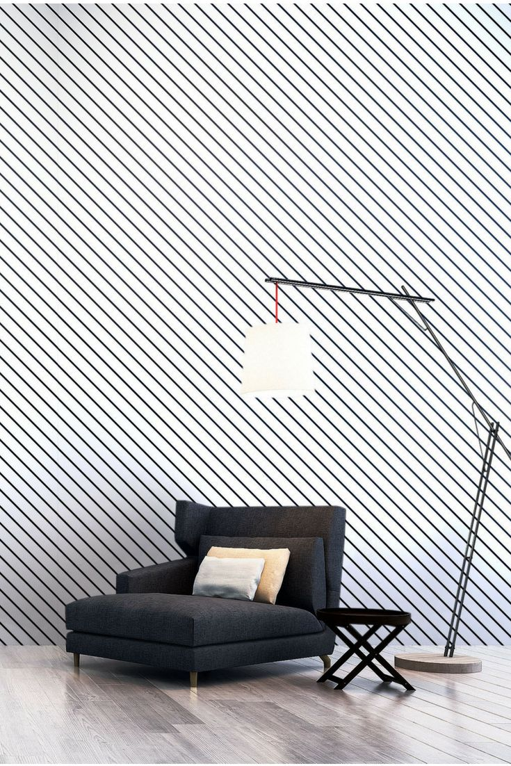 Wall mural: Simple slanted, diagonal lines over shaded ...