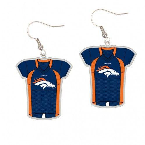 ~Denver Broncos Earrings Jersey Style~ backorder
