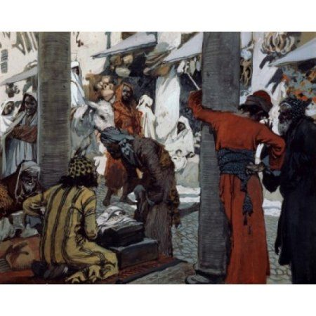 Deceit and Guile Depart Not From Her Streets James Tissot (1836-1902 French) Jewish Museum New York City Canvas Art - James Tissot (24 x 36)