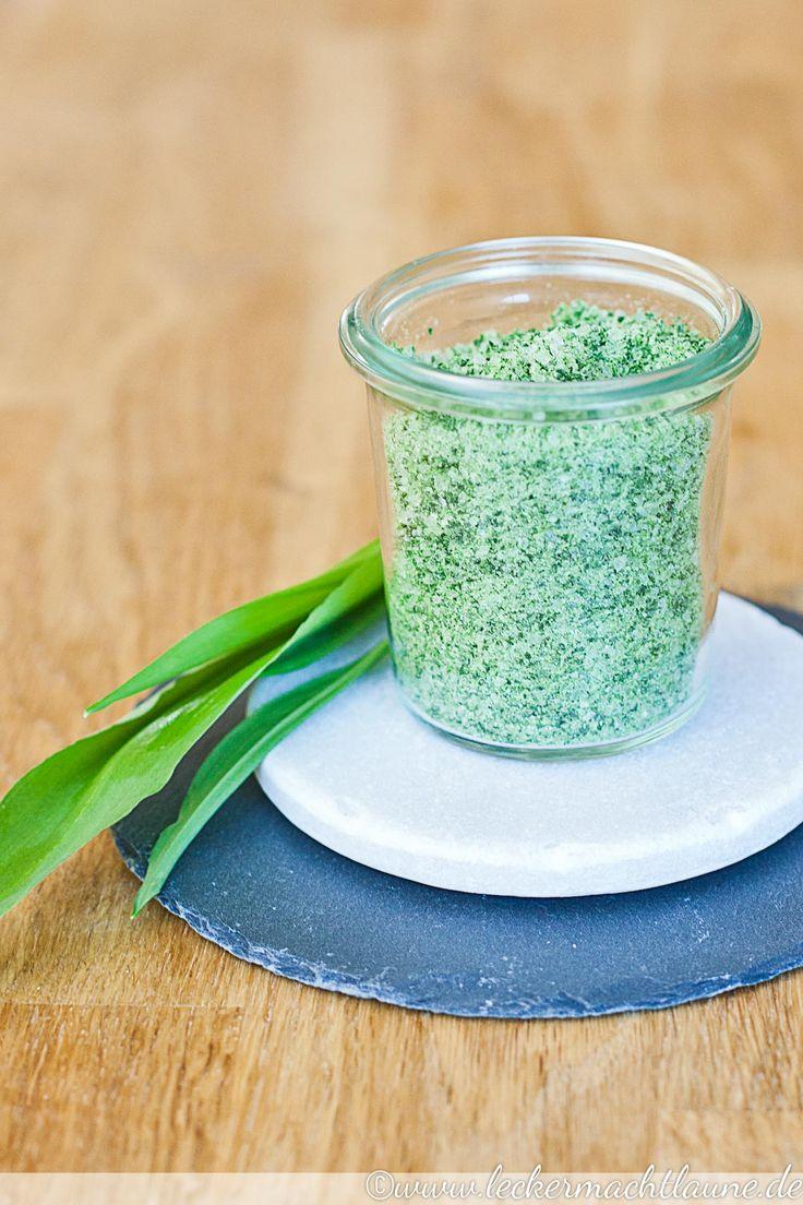 Perfekt um die köstliche Bärlauchsaison zu verlängern: Bärlauch-Salz.