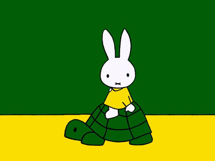 Miffy...my childhood..and on a turtle!!!